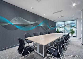 DDS100_Frequencies_Teal_acoustic-panel_window-graphic