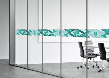 discus-window graphic safety film-optically clear white ink behind copy