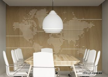 DDS197_Mapa_Clear_2 printed wood boardroom interiors