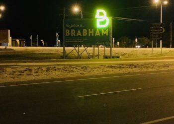 illuminated v sign billboard perth
