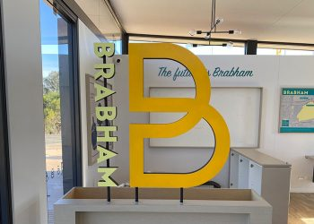 internal sales office signage perth