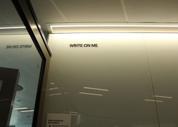 vinyl cut graphics white board